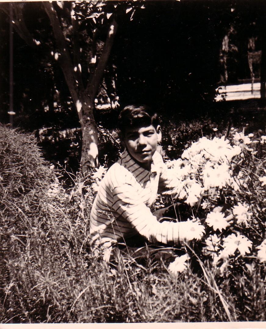 Ahmed Khiat à l'âge de 16 ans. Photo prise au Parc Lalla Aîcha - Oujda